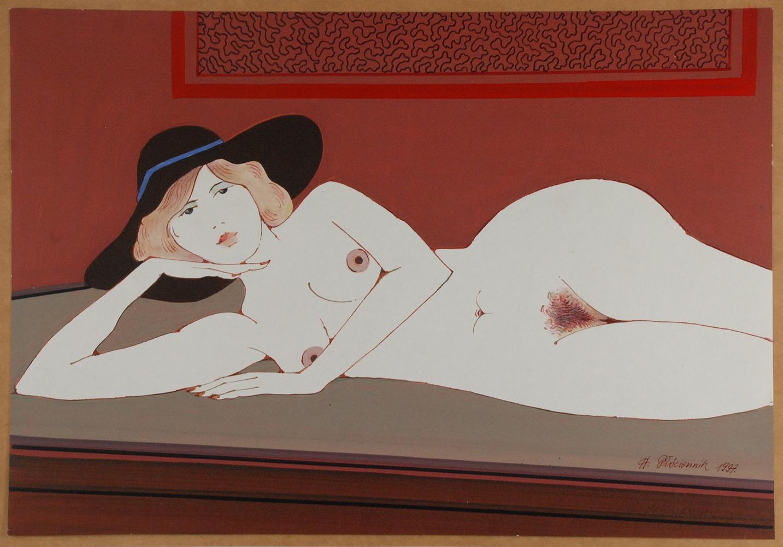 Akt w kapeluszu, 1997
