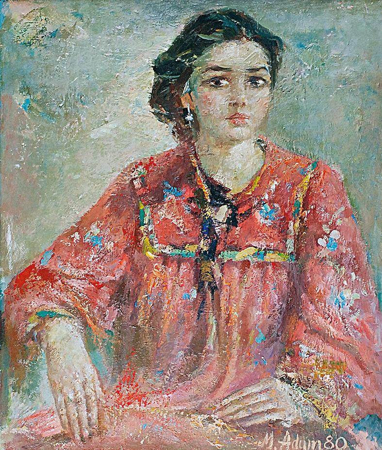 Dziewczyna w czerwieni -portret Joanny, 1980