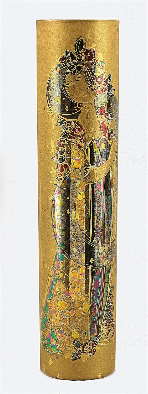 Wazon cylindryczny z dekoracją z serii: Szecherazada