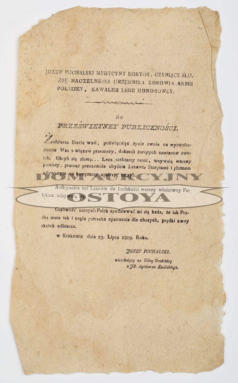 Józef PUCHALSKI, Kraków, 23.07.1809