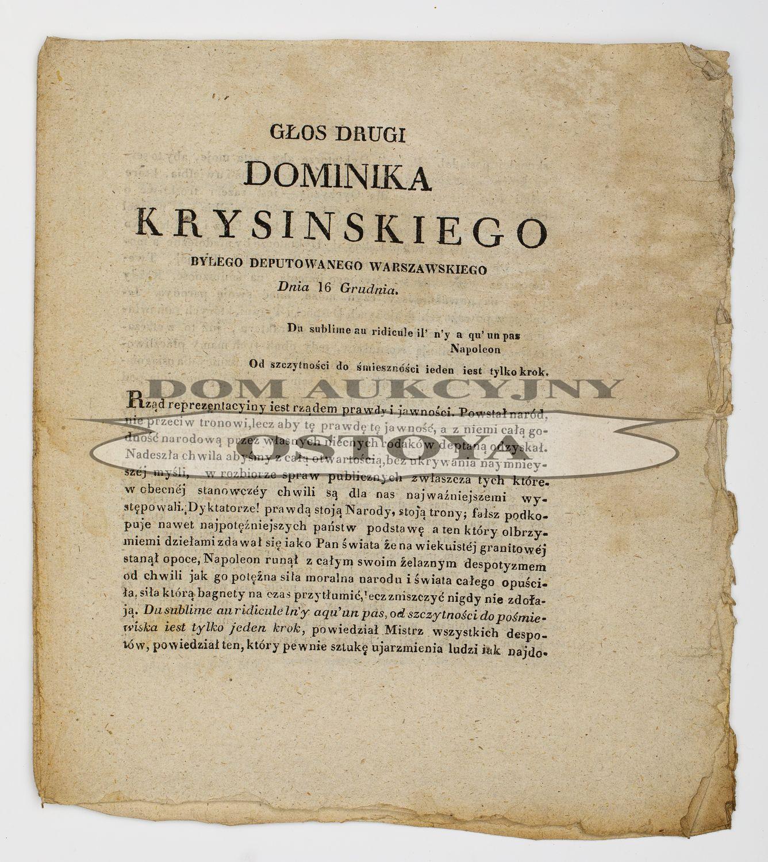GŁOS DRUGI DOMINIKA KRYSIŃSKIEGO, 16.12.1830