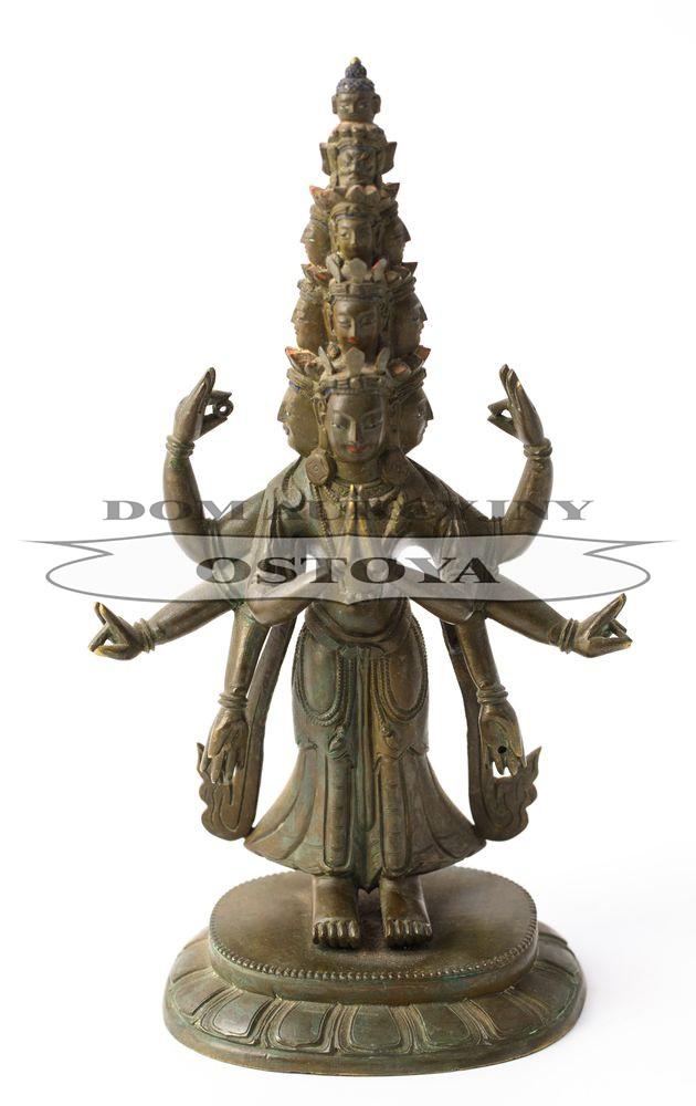 11-GŁOWY AVALOKITEŚVARA, Chiny lub Tybet, XIX w.