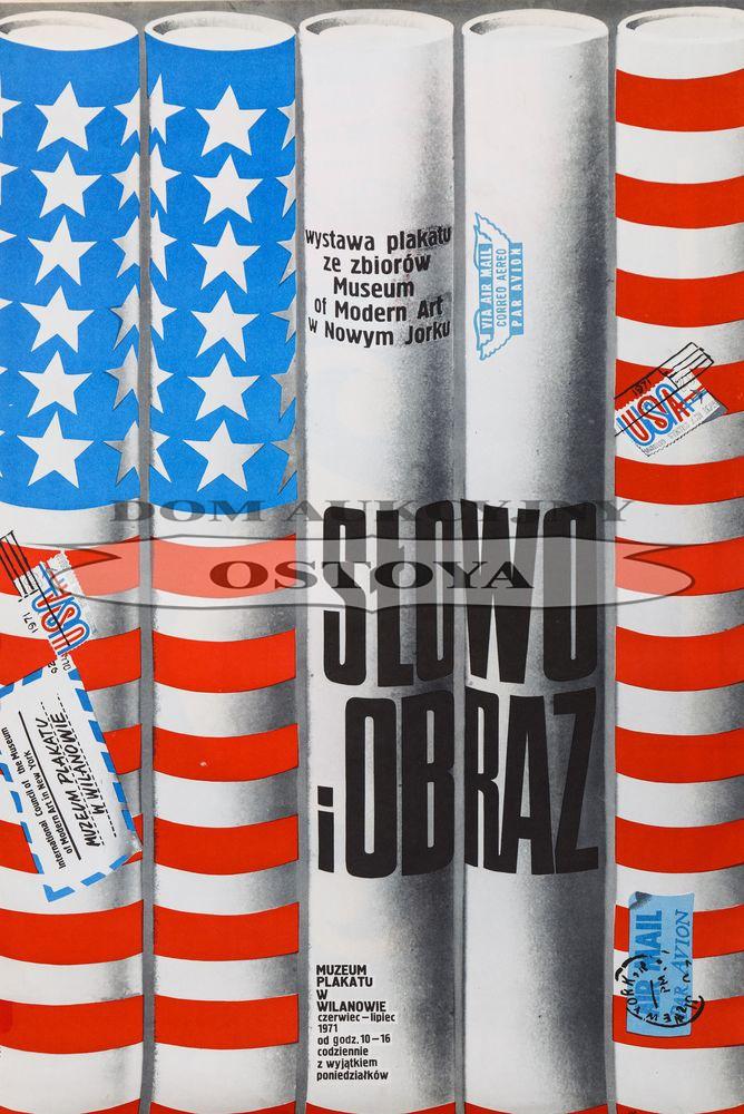 Plakat wystawy SŁOWO I OBRAZ, 1971