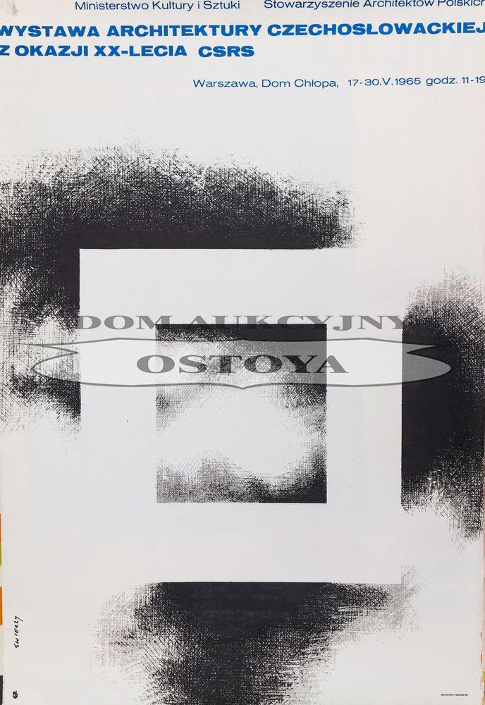 Plakat WYSTAWA ARCHITEKTURY CZECHOSŁOWACKIEJ, 1965