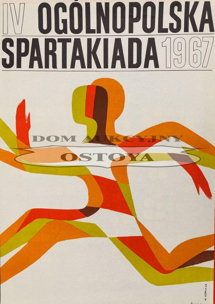 Plakat IV OGÓLNOPOLSKA SPARTAKIADA, 1967