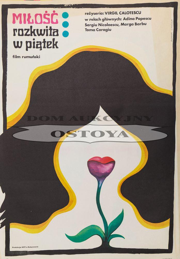 Plakat do filmu MIŁOŚĆ ROZKWITA W PIĄTEK, 1972