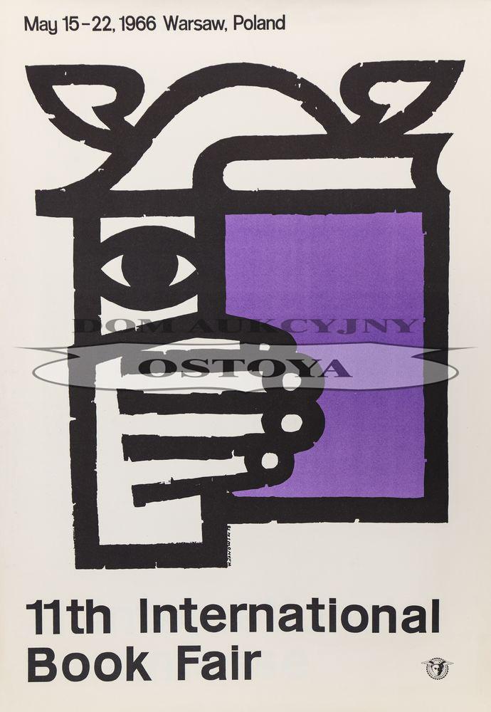 Plakat 11 MIĘDZYNARODOWE TARGI KSIĄŻKI, Warszawa, 1966, proj. 1958