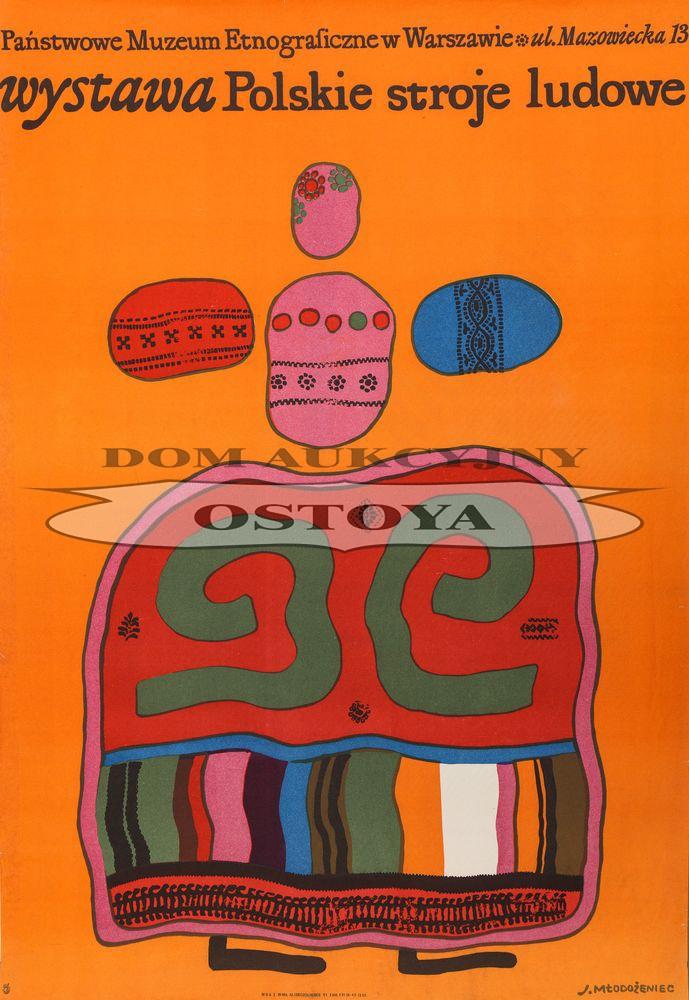 Plakat wystawy POLSKIE STROJE LUDOWE, 1966