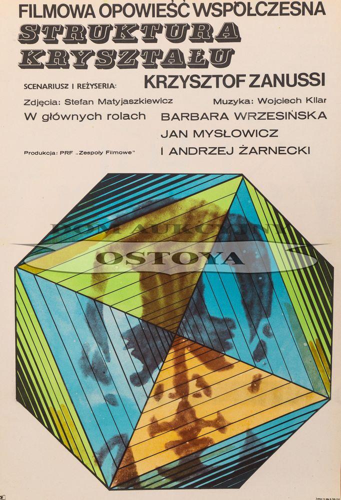 Plakat do filmu STRUKTURA KRYSZTAŁU, 1969