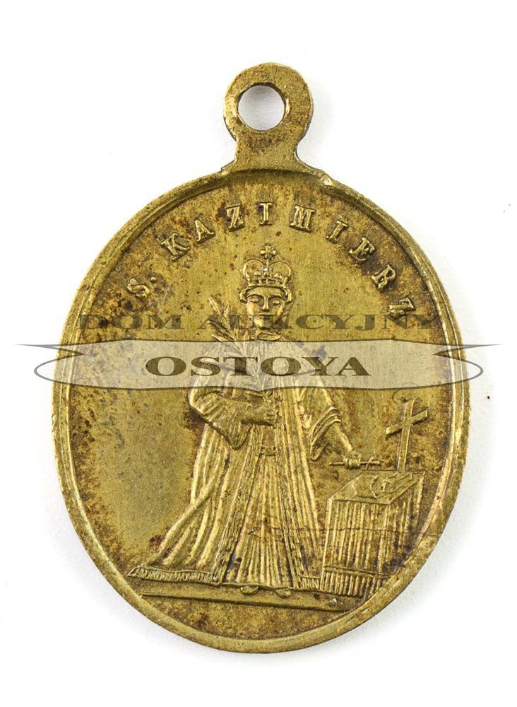 MEDALIK, ŚW. KAZIMIERZ / MATKA MIŁOSIERDZIA, Polska, Warszawa, Aleksander Magnus, po 1865