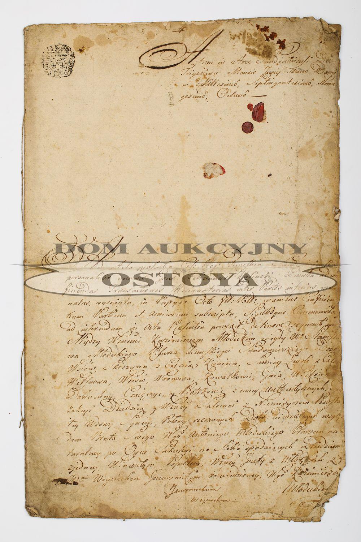 UMOWA MIĘDZY KAZIMIERZEM MŁODECKIM I WINCENTYM POPIELEM, Sandomierz, 30.06.1798