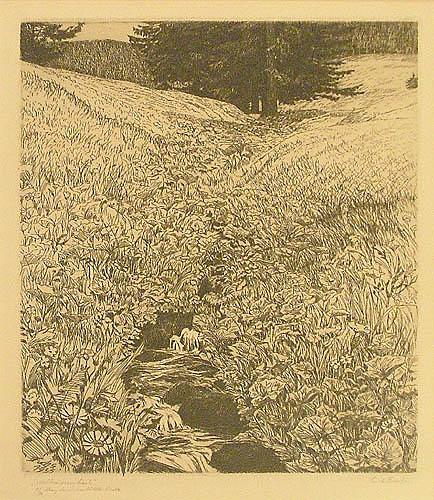 Potok na leśnej łące, 1935