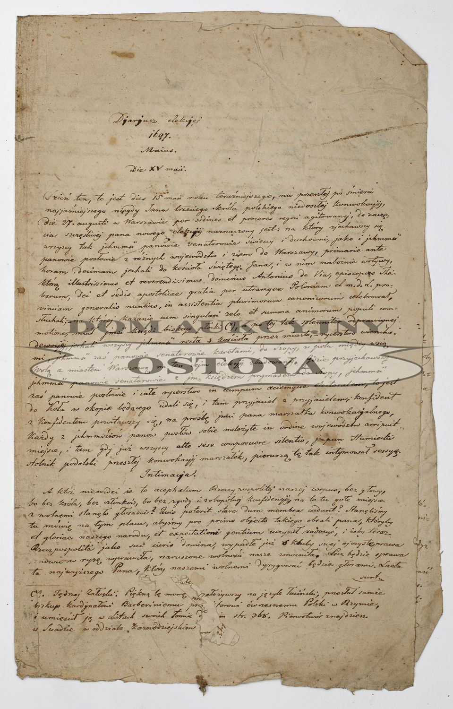 DZIENNIK ELEKCJI, 1697