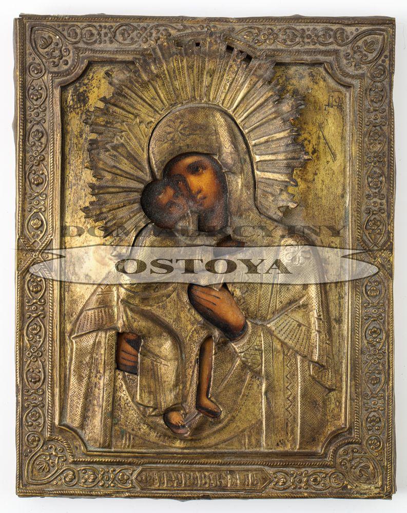 IKONA, MATKA BOSKA FIODOROWSKA, Rosja, K. XIX w.