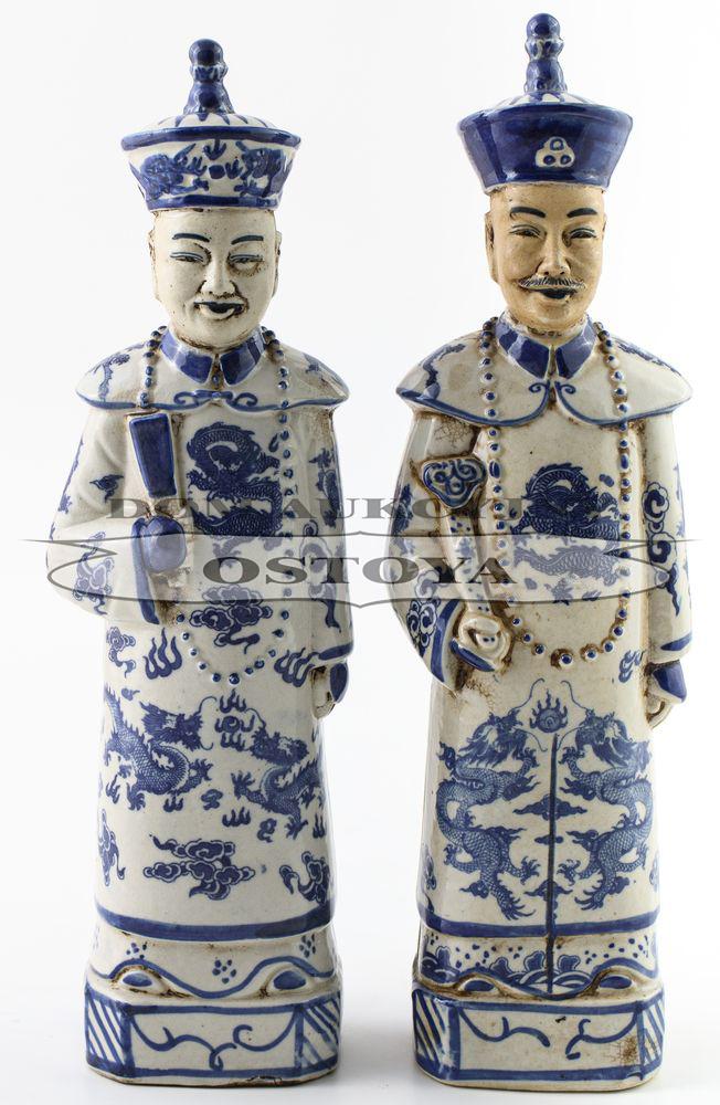 PARA FIGUR MANDARYNÓW, Chiny, XIX/XX w.