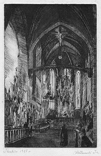 Wnętrze Kościoła, 1925