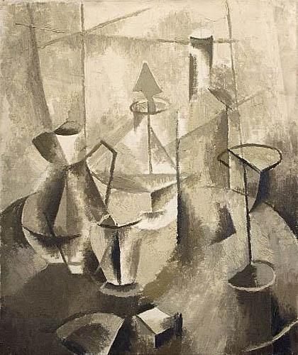 Martwa natura kubistyczna (brązowa), 1953 - 54