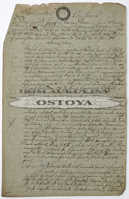 PROTOKÓŁ KOMISJI, 1.09.1806
