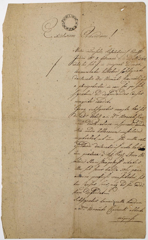 PISMO SĄDOWE, Stanisławów, 8.03.1820