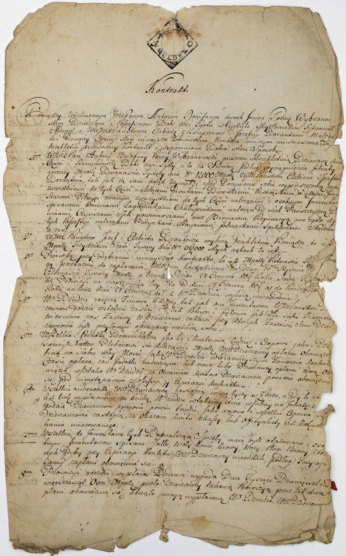 KONTRAKT DZIERŻAWY WSI, Lgota, 22.12.1805