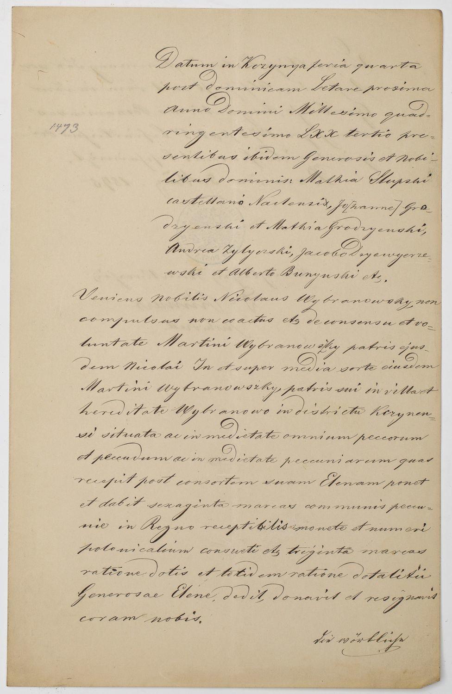 WYPIS Z ARCHIWUM POZNAŃSKIEGO, 5.05.1895