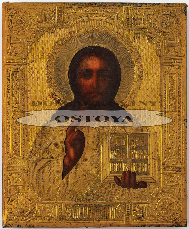 IKONA, CHRYSTUS PANTOKRATOR, Rosja, Moskwa, Anton Michajłowicz Czewarzin, 1888