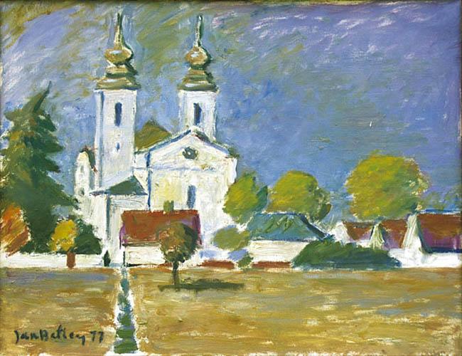 Widok na kościół, 1977