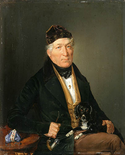 PORTRET MĘŻCZYZNY Z PSEM, 1837 r.
