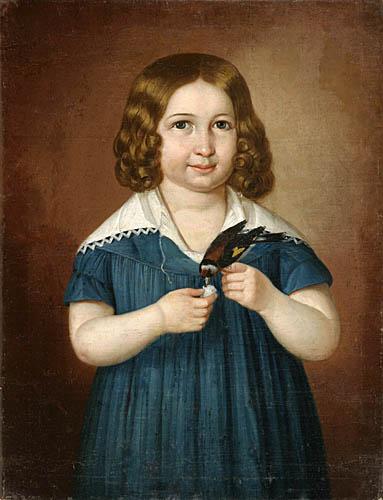 PORTRET DZIEWCZYNKI KARMIĄCEJ PTAKA, 1842 r.