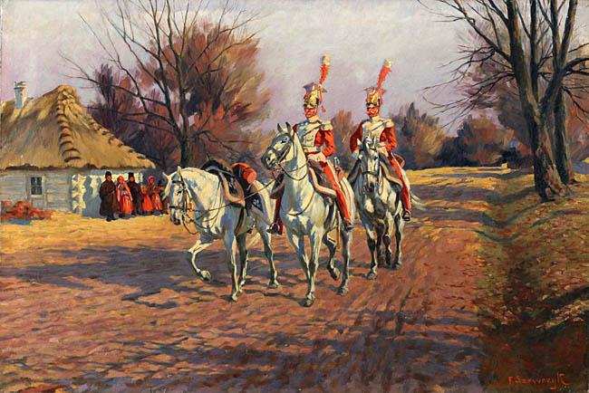 Trębacze 1 płk lekkokonnego polskiego Gwardii Cesarza Napoleona I z lat 1808-1809