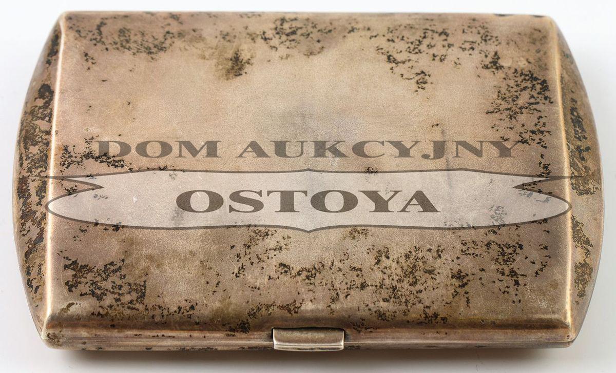 PAPIEROŚNICA Z MONOGRAMEM CK, Polska, Warszawa, Krupski i Matulewicz, 1921-1931