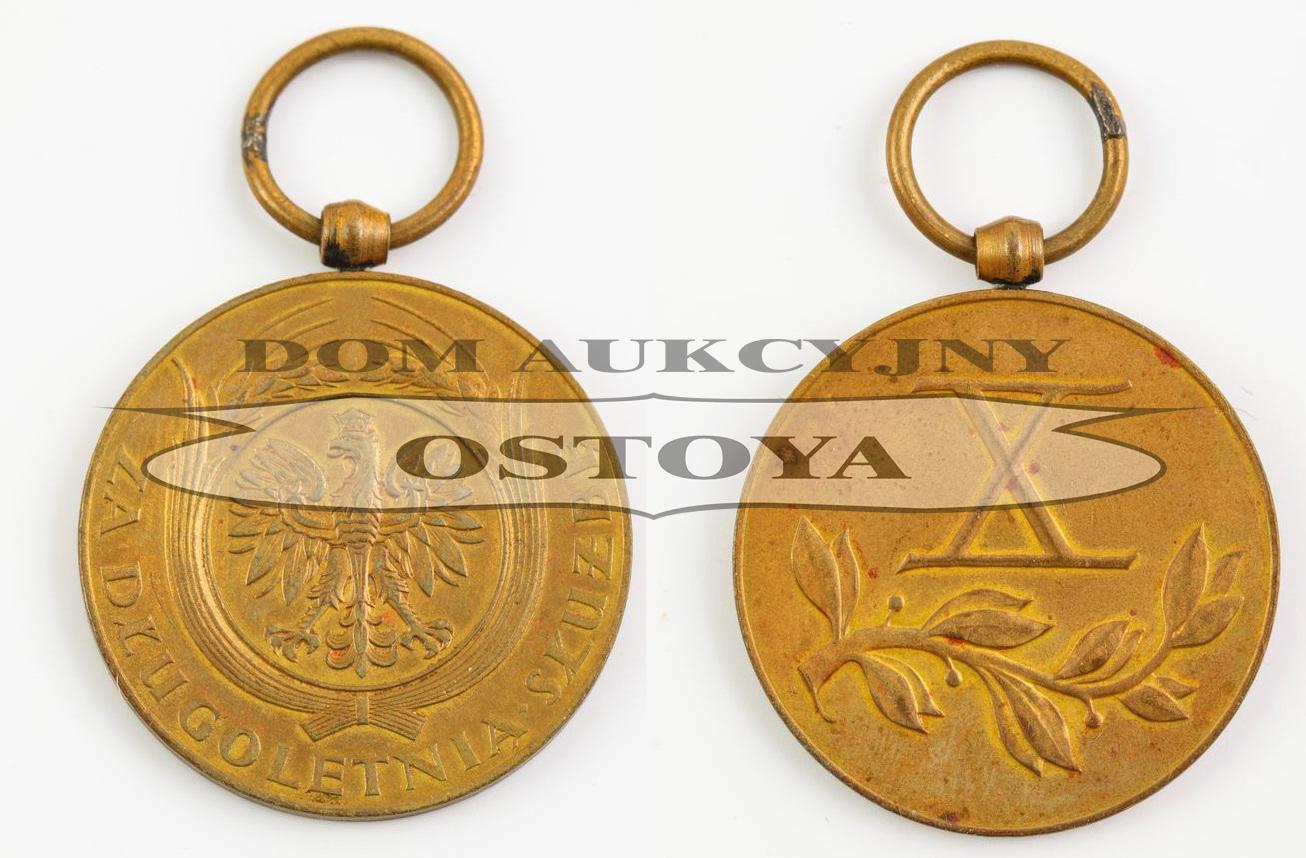 MEDAL ZA DŁUGOLETNIĄ SŁUŻBĘ, X lat, Polska, 1938