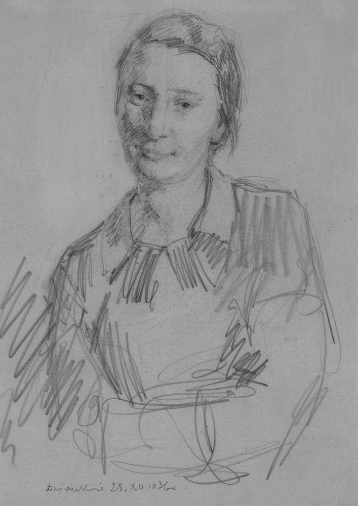 PORTRET KOBIETY, 1936