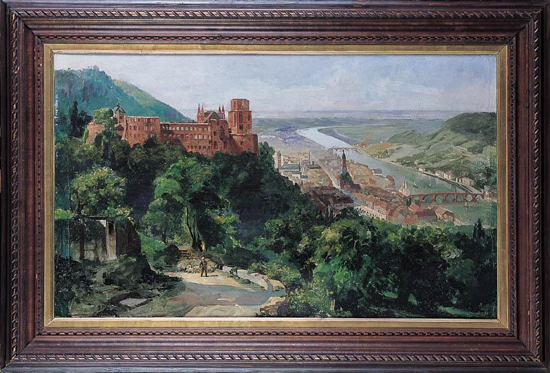 Widok Heidelbergu, po 1910