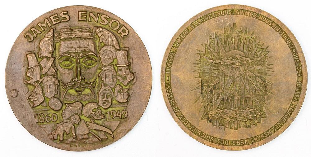 Medal, JAMES ENSOR, 1960