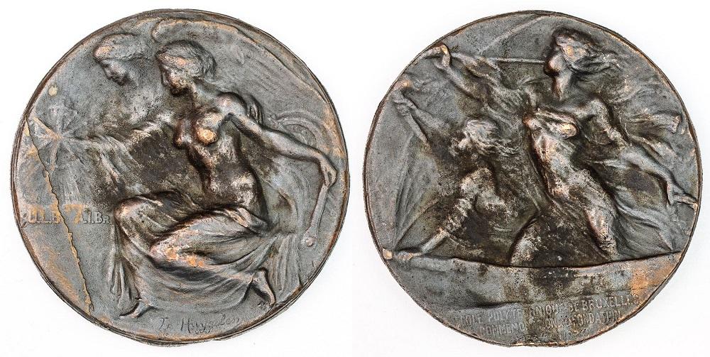 Medal, 50 LAT POLITECHNIKI W BRUKSELI, 1924