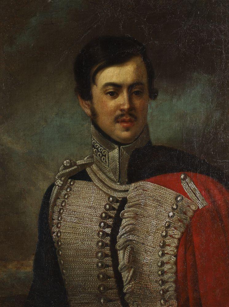 PORTRET OFICERA BIAŁORUSKIEGO PUŁKU HUZARÓW, 1826 - 1834
