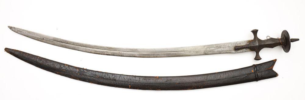 SZABLA MOGOLSKA typu TALWAR, Indie, XIX w.