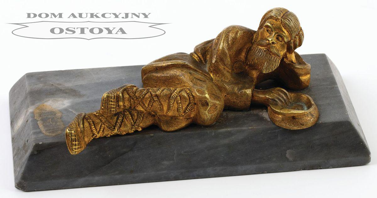 PRZYCISK DO PAPIERU Z ROSYJSKIM CHŁOPEM, Rosja, 2 poł. XIX w.