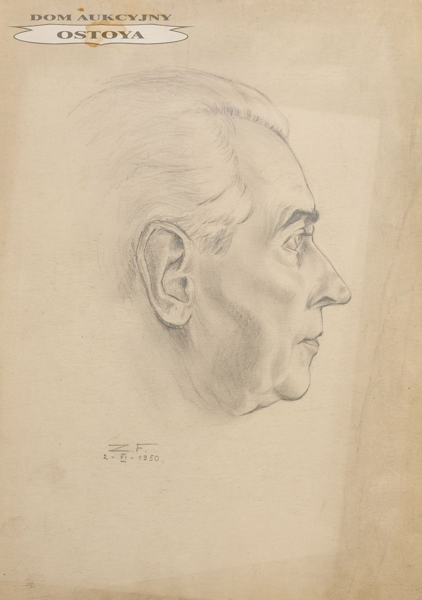 PORTRET MĘSKI, 1950