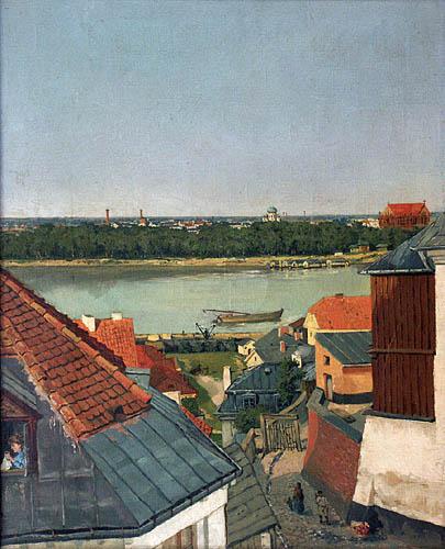 Widok z lewobrzeżnej Warszawy na Pragę