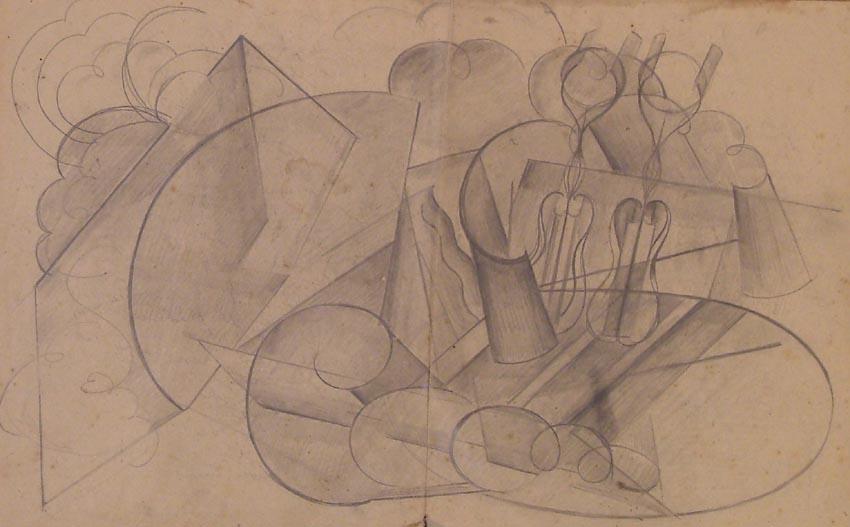 Abstrakcja z motywem skrzypiec