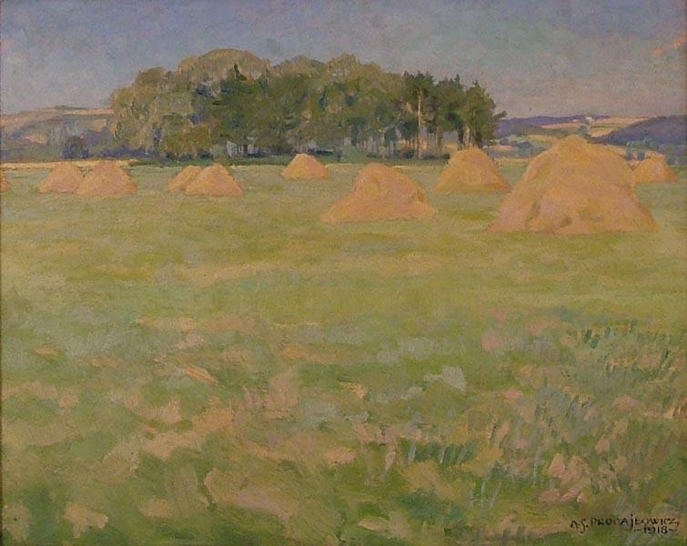 Pejzaż ze snopkami, 1918