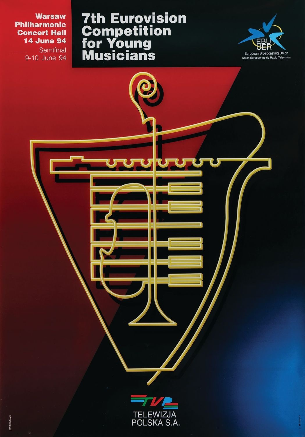 Plakat 7th EUROVISION COMPETITION FOR YOUNG MUSICIANS, 1994