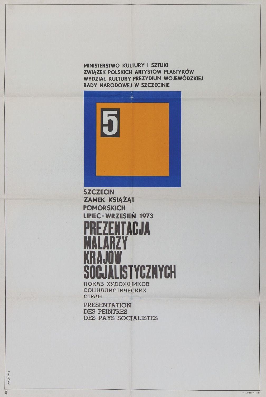 Plakat PREZENTACJA MALARZY KRAJÓW SOCJALISTYCZNYCH, 1973