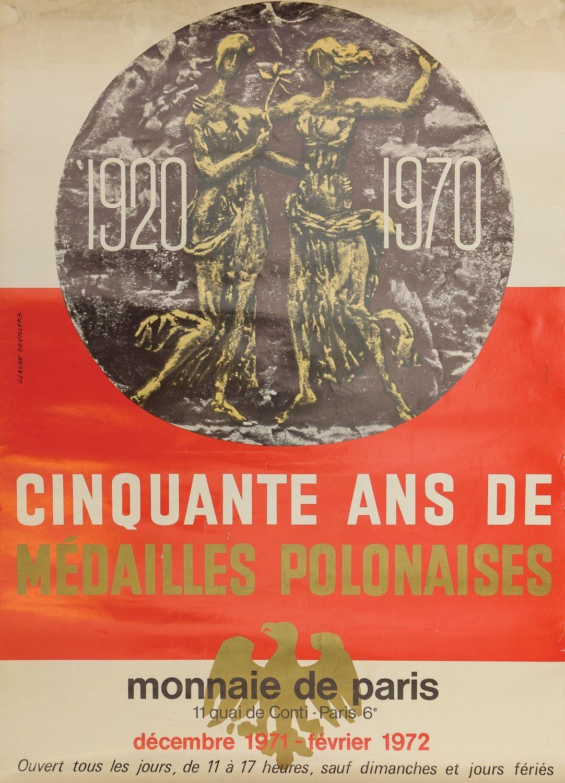 Plakat CINQUANTE ANS DE MÉDAILLES POLONAISES, 1971