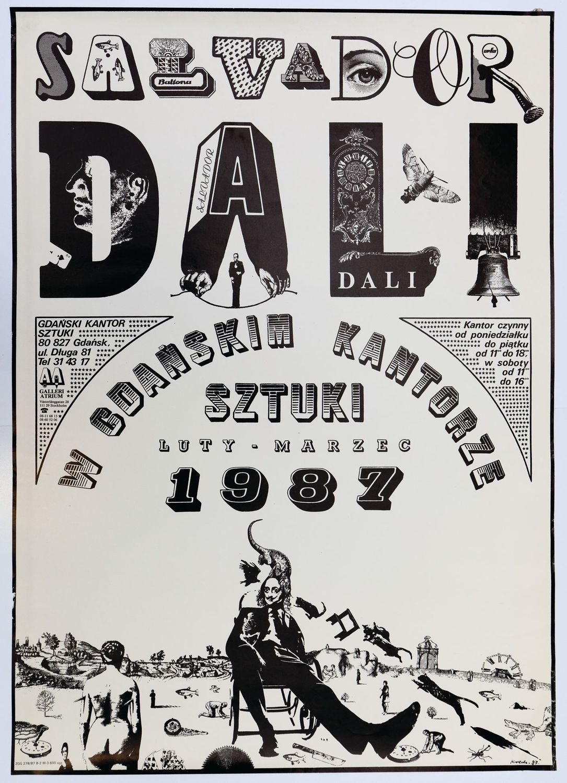 Plakat SALVADOR DALI W GDAŃSKIM KANTORZE SZTUKI, 1987