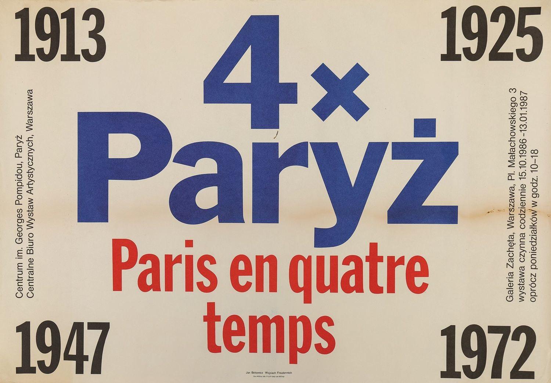 Plakat 4 RAZY PARYŻ, 1986