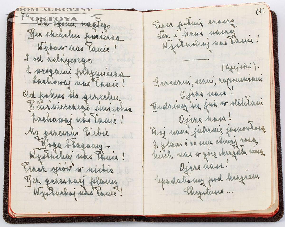 MODLITEWNIK ZIARNA NA WIETRZE Zofii Ptaśnikowej, 1928