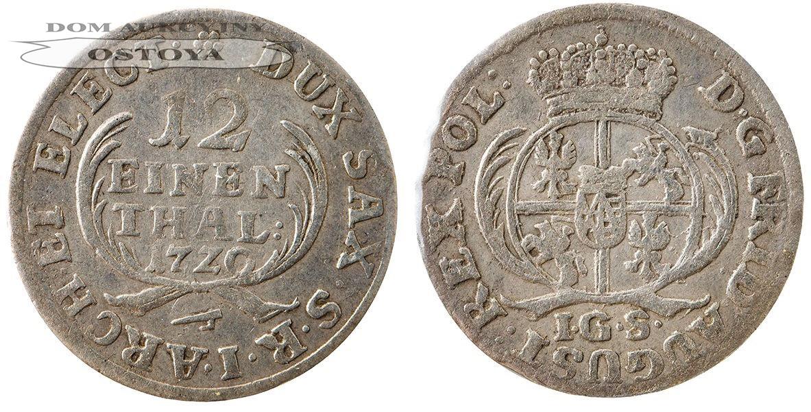 August II Mocny, 1/12 talara 1720, Saksonia
